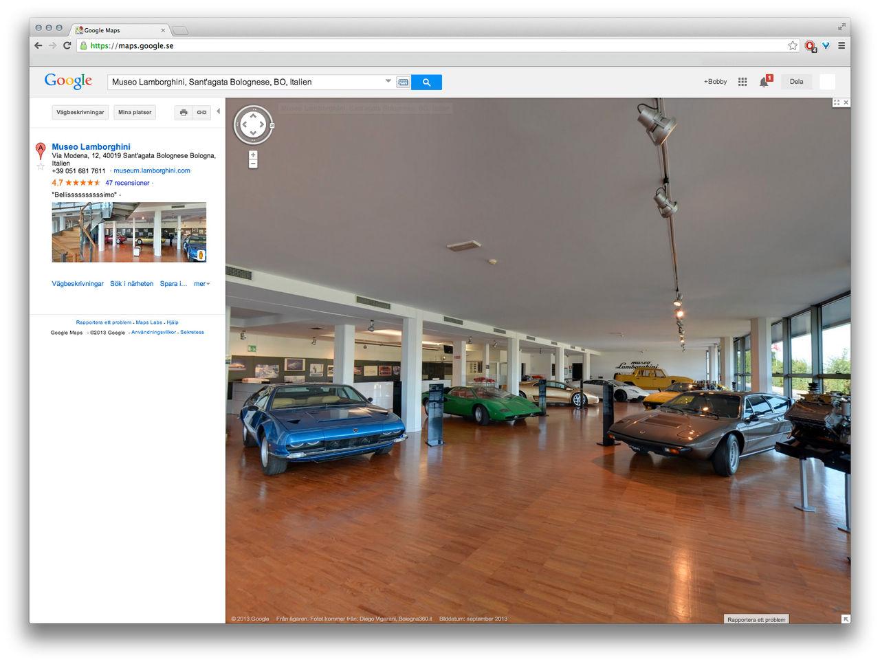 Besök Lamborghinis museum