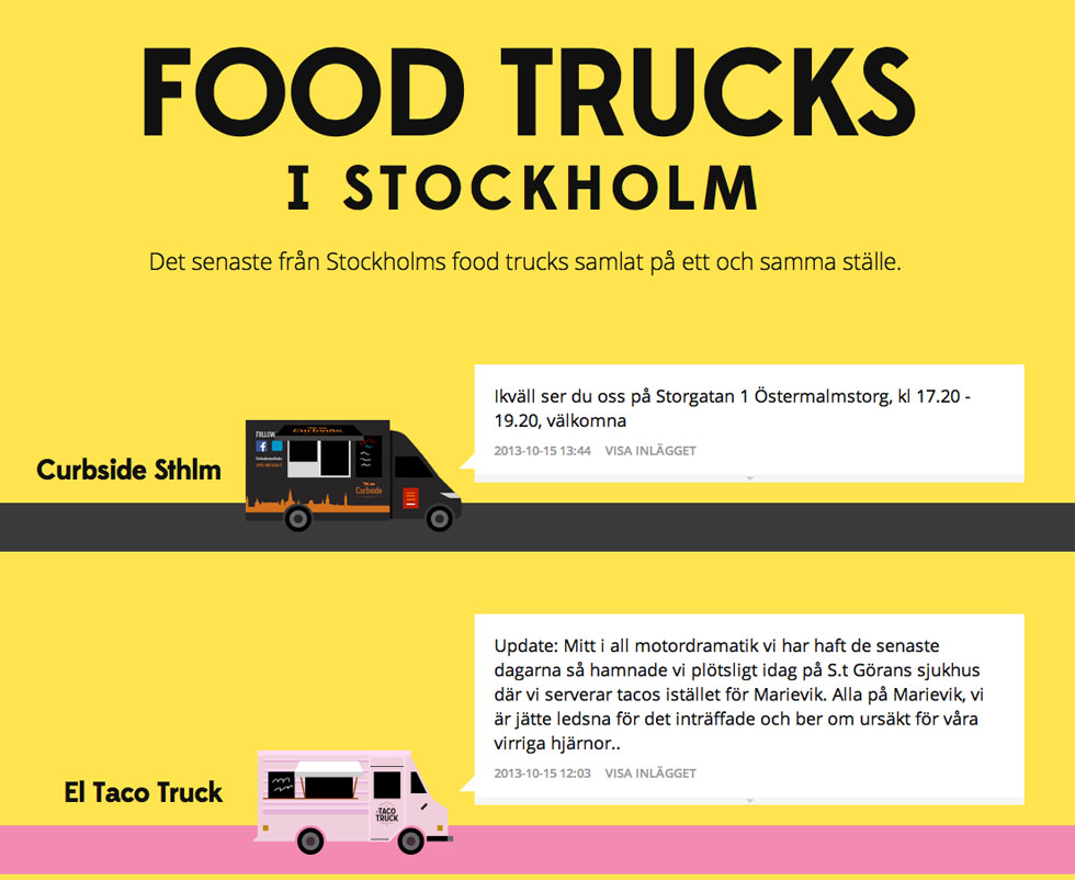 foodtruck stockholm karta