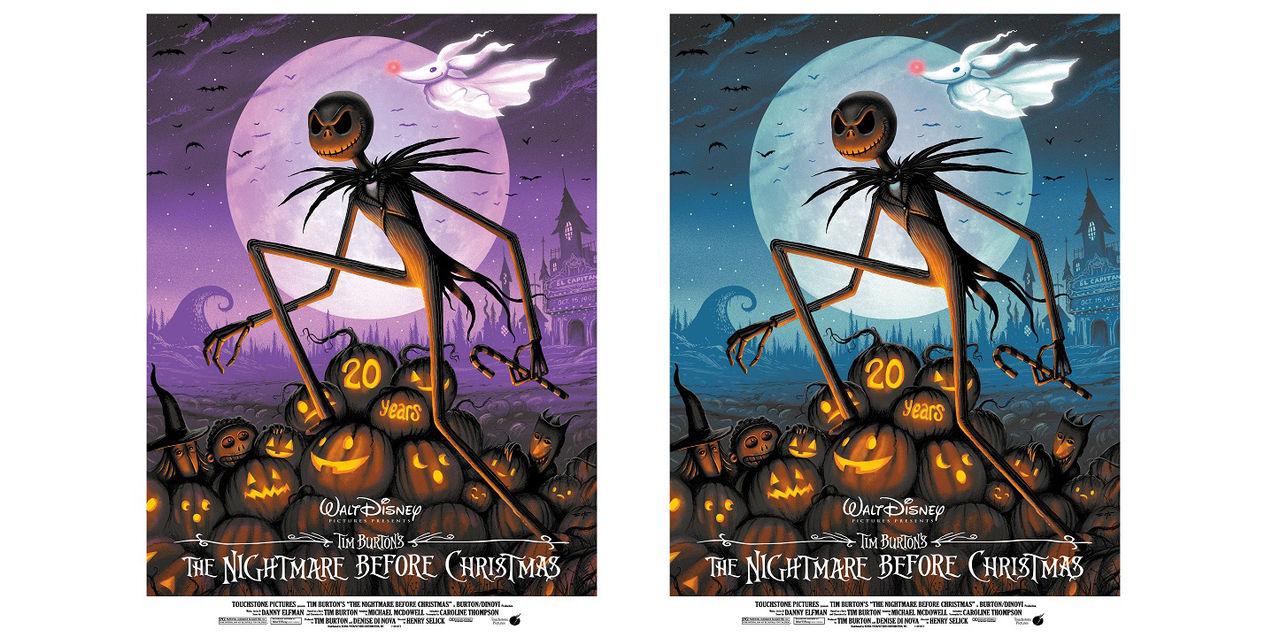 Limiterade The Nightmare Before Christmas-posters. 20-årsjubileum ...
