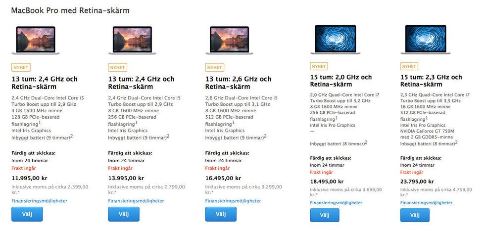 Nya MacBook Pros lanserade