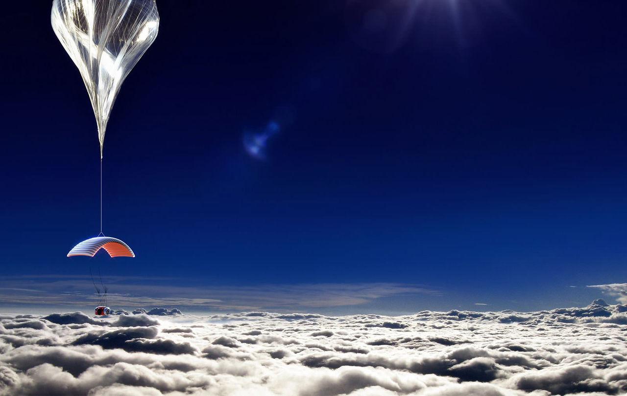 Flyg till himlen i en ballong