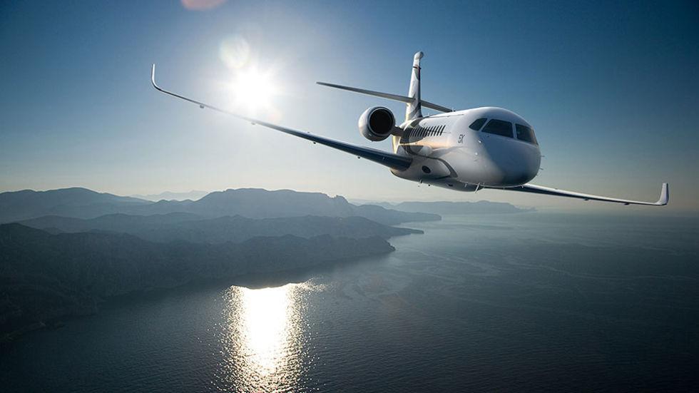 Lyxigt privatjet från Dassault