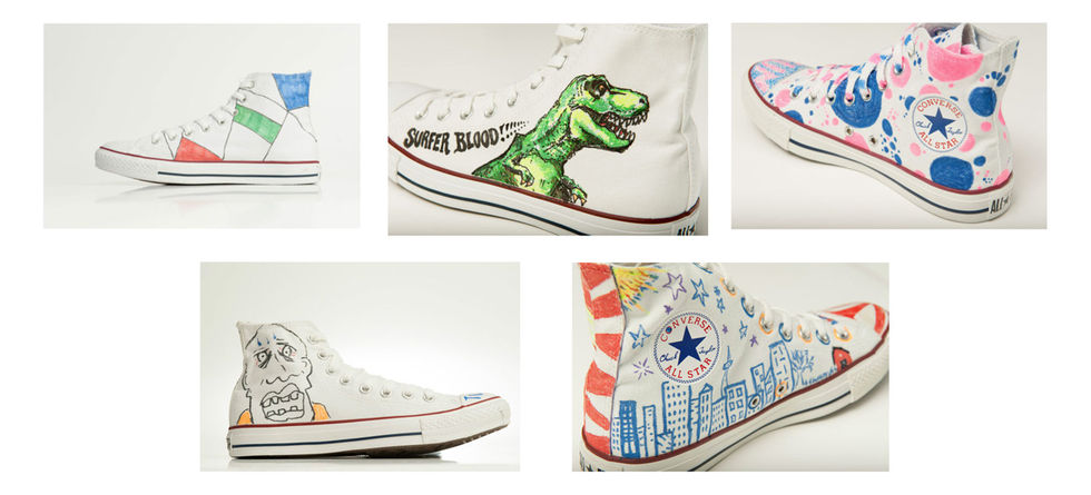 Köp ditt favoritbands designade Converse