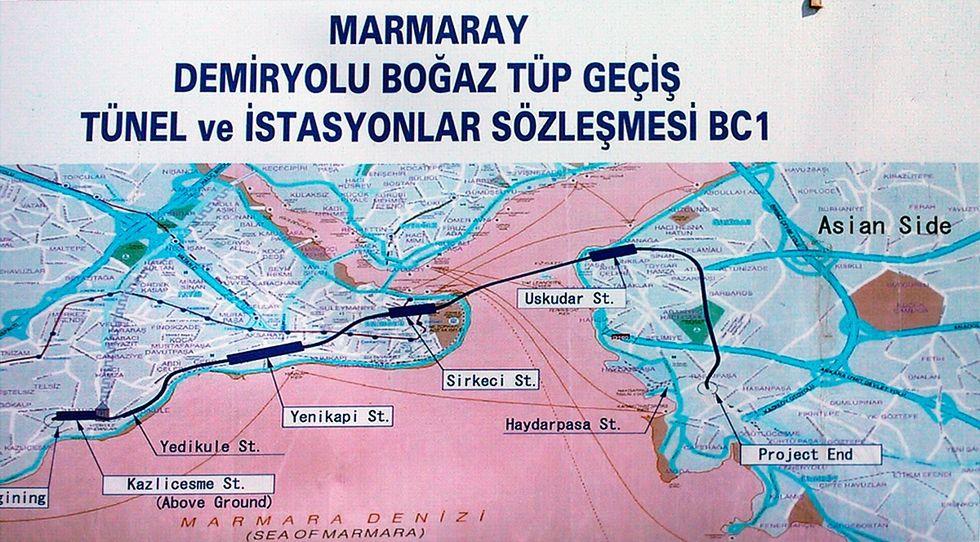 Turkiet inviger tunnel under Bosporen