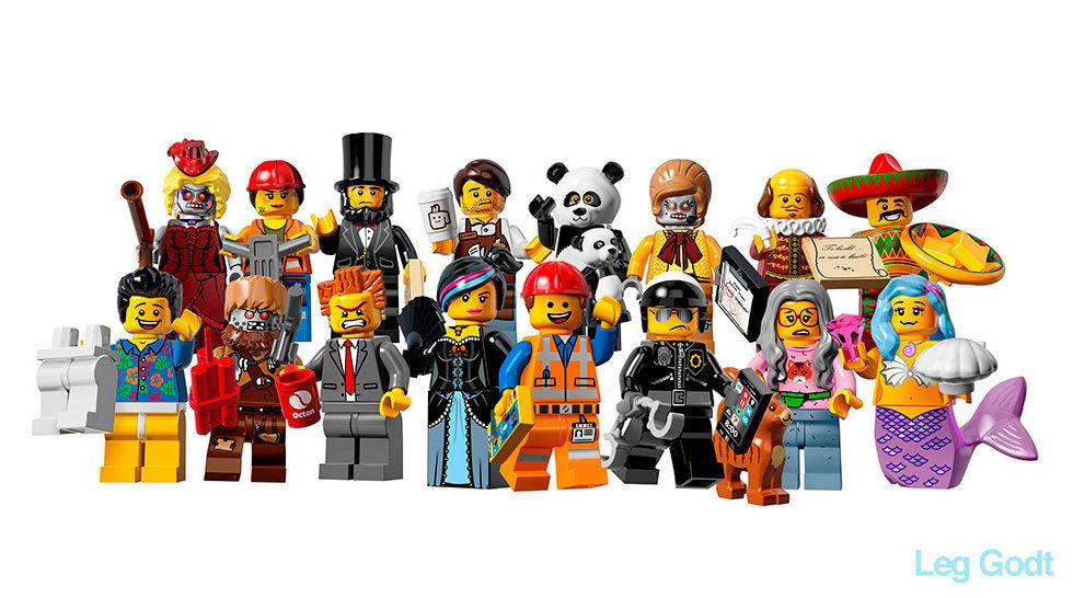Alla LEGO-figurer från kommande filmen
