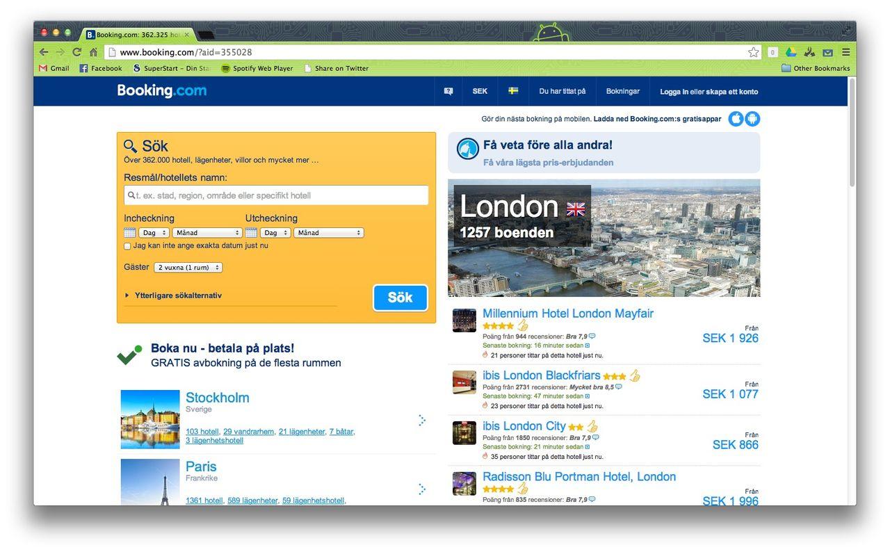 Booking.com fuskar med kvalitets-märkning