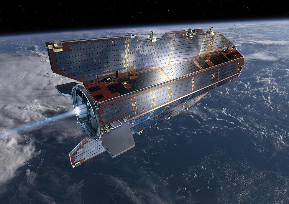 Satellit har kraschat mot jorden