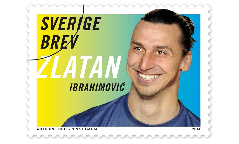 Zlatan blir frimärke nästa år