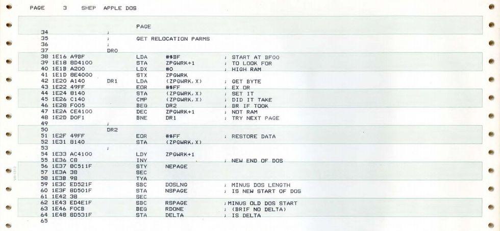 Apple II DOS-kod släppt