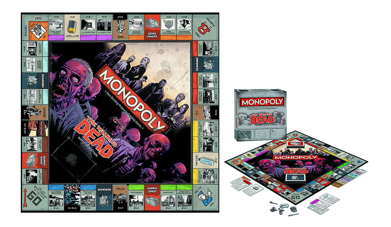 Monopol med Walking Dead-tema