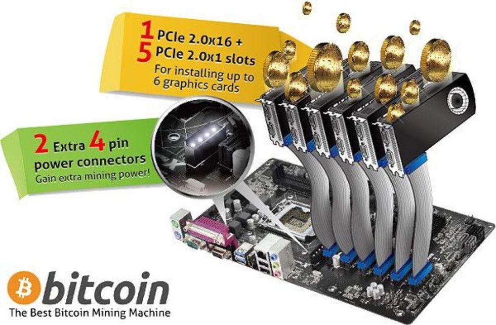 ASRock introducerar moderkort för Bitcoin mining