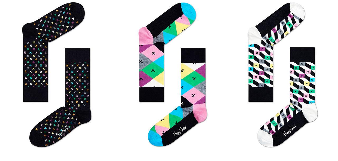 Nya Minecraft-strumpor från Happy Socks