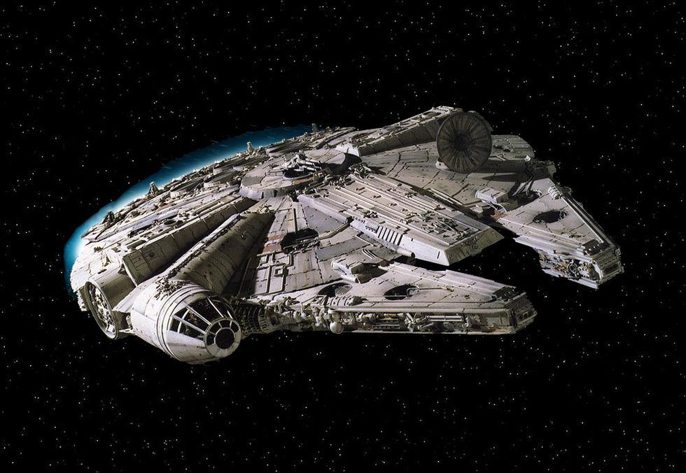 Millenium Falcon till Star Wars VII redan byggd