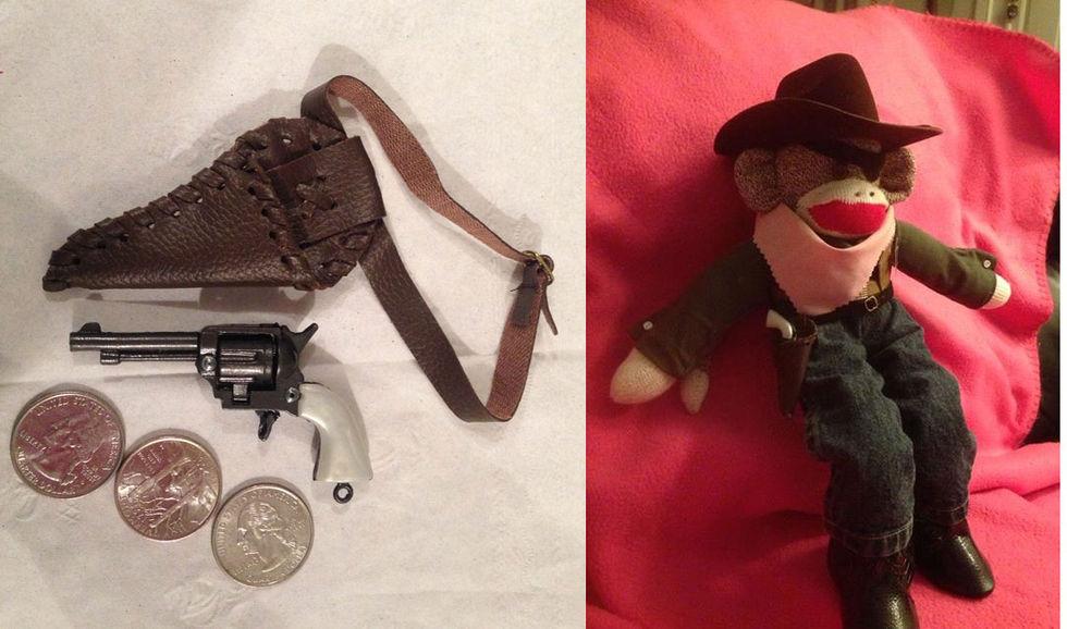 Leksaksapas pistol beslagtagen på flygplats
