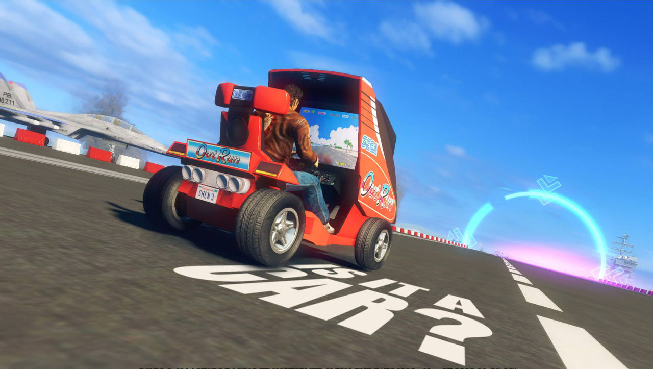Shenmue-DLC till Sonic & All Star Racing Transformed