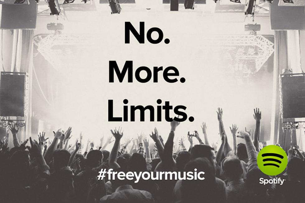 Spotify tar bort tidsgräns för gratisabonnemang
