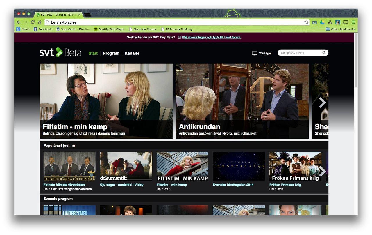 SVT vann streamingligan 2013