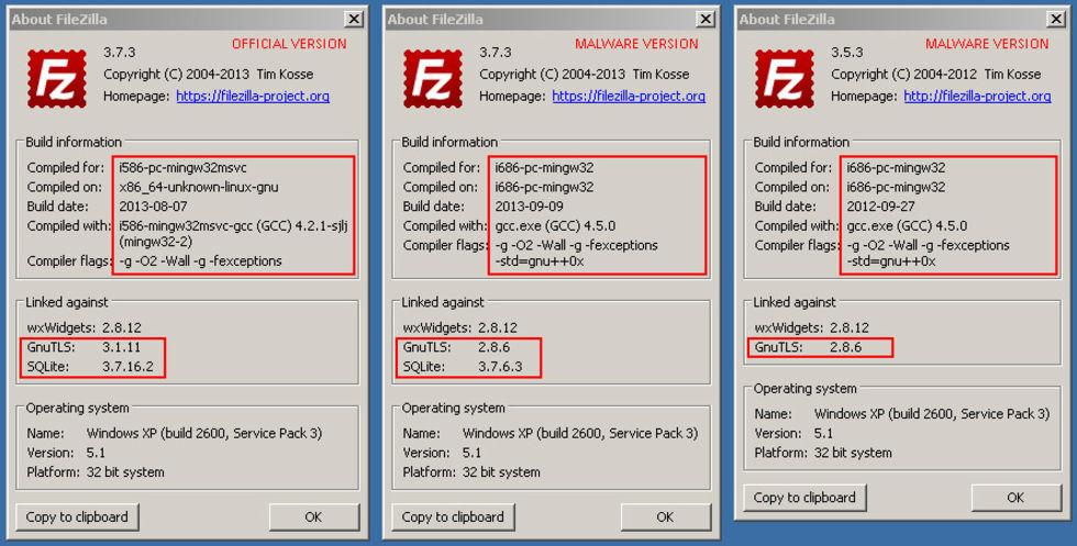 Filezilla hackas för att stjäla information