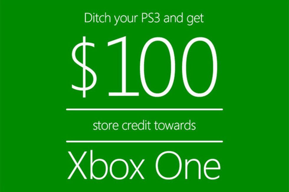 Dumpa din PS3, få 100 dollar rabatt på Xbox  One