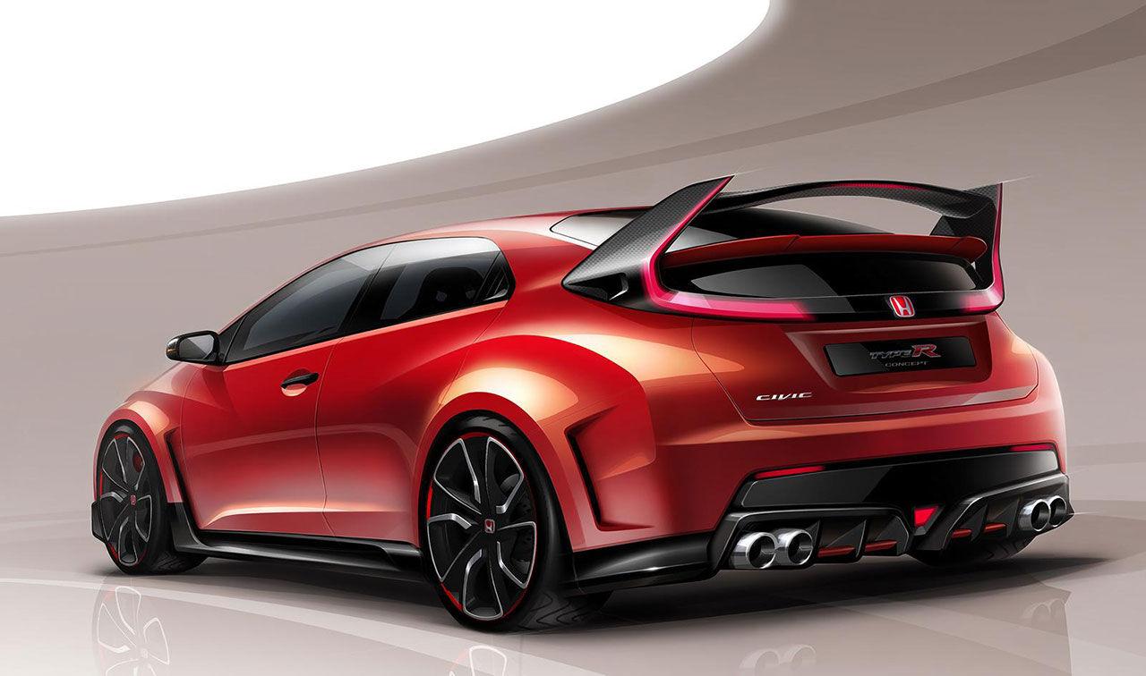 Första bilden på nya Honda Civic Type R