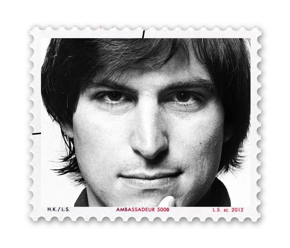 Frimärken med Steve Jobs
