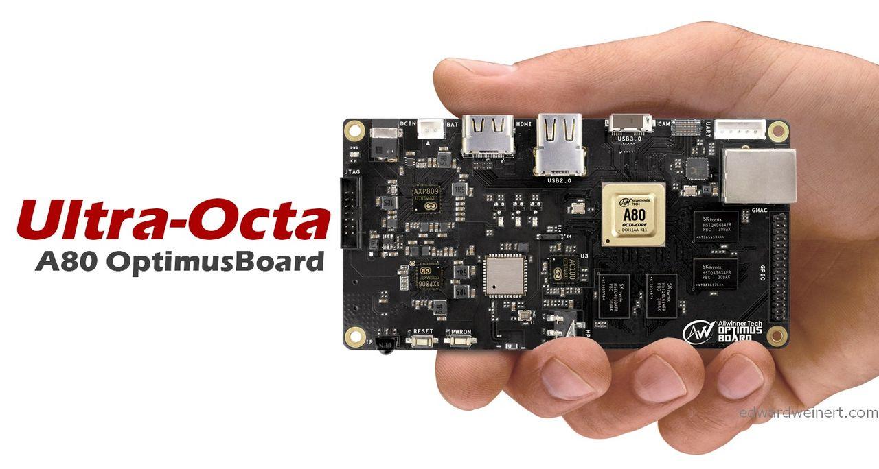 Allwinner tillkännager UltraOcta A80