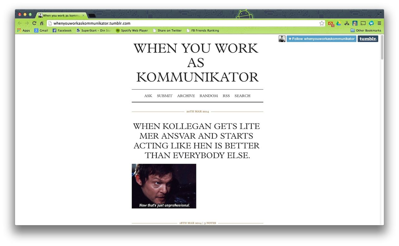 When you work as a kommunicator