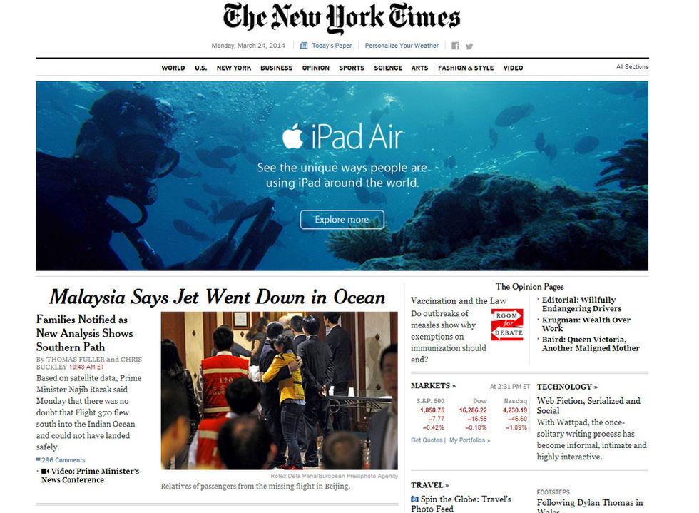 Misslyckad annonsplacering för Apple