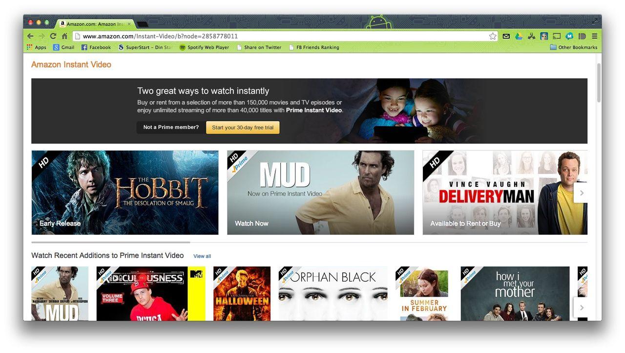 Amazon startar tjänst för gratis film?