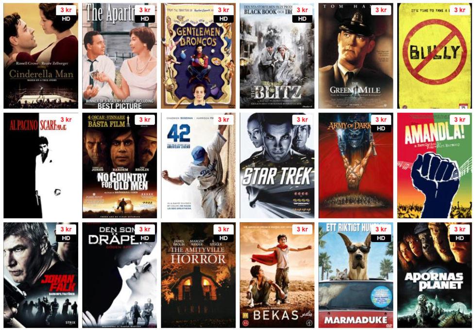 Film2home hyr ut film för 3 kronor