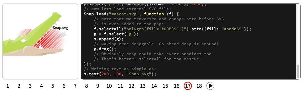 Gör vektoranimationer med javascript
