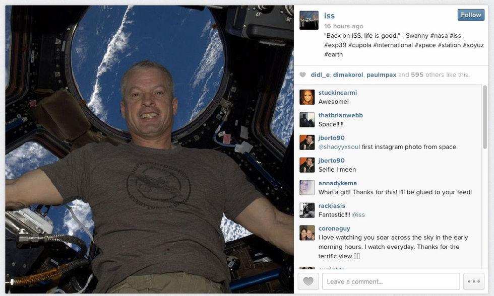 Första Instagram-bilden från rymden