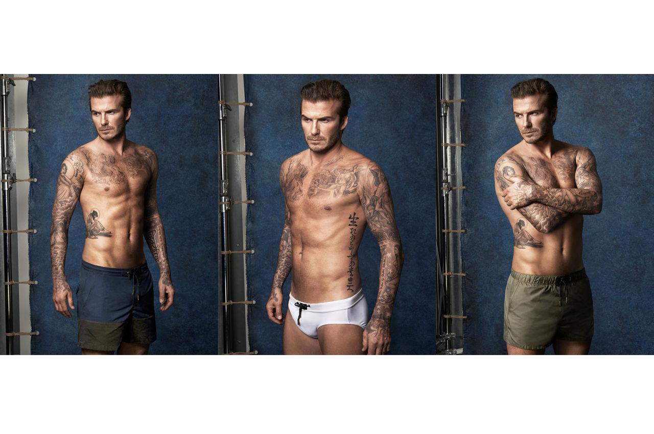 David Beckhams badbyxor för H&M