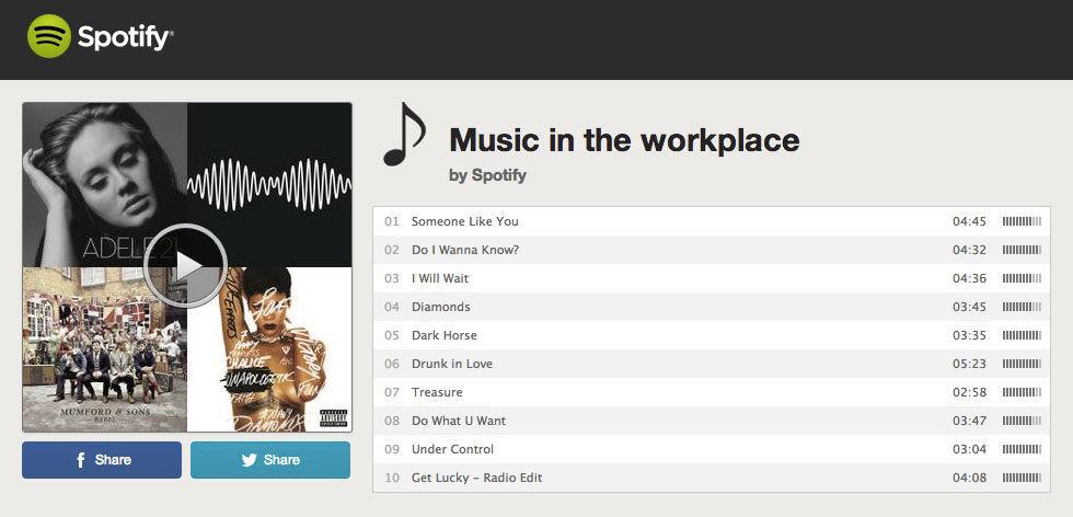 Bra att lyssna på musik på jobbet