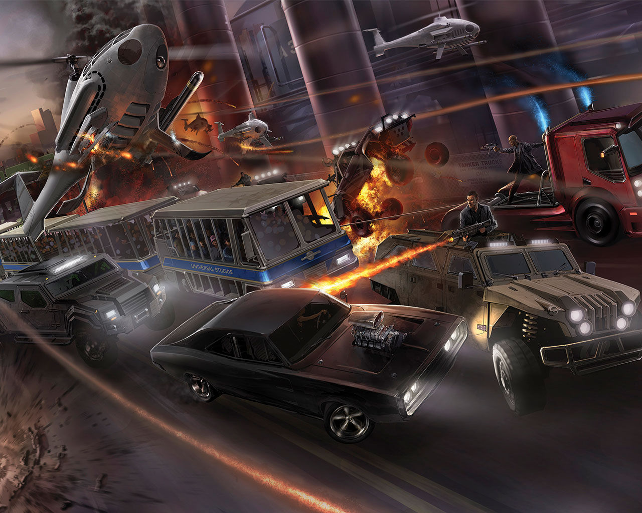 Fast & Furious-attraktion i Hollywood