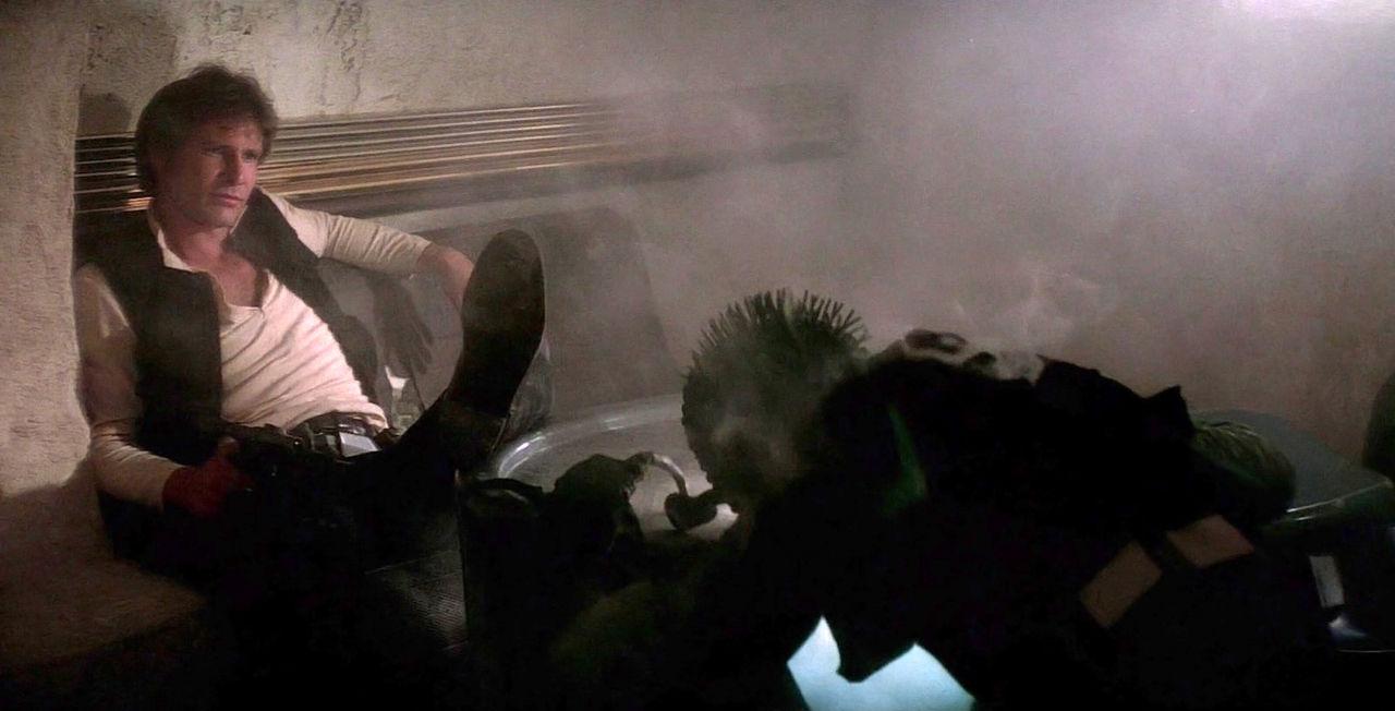 Harrison Ford svarar på vem som sköt först