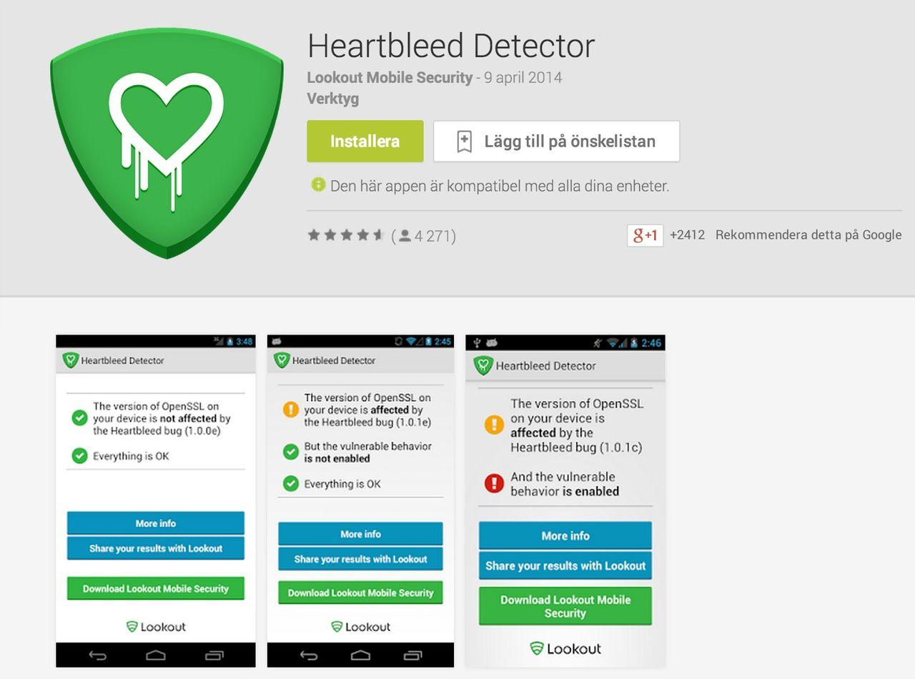 Kontrollera om din Android-enhet är drabbad av Heartbleed