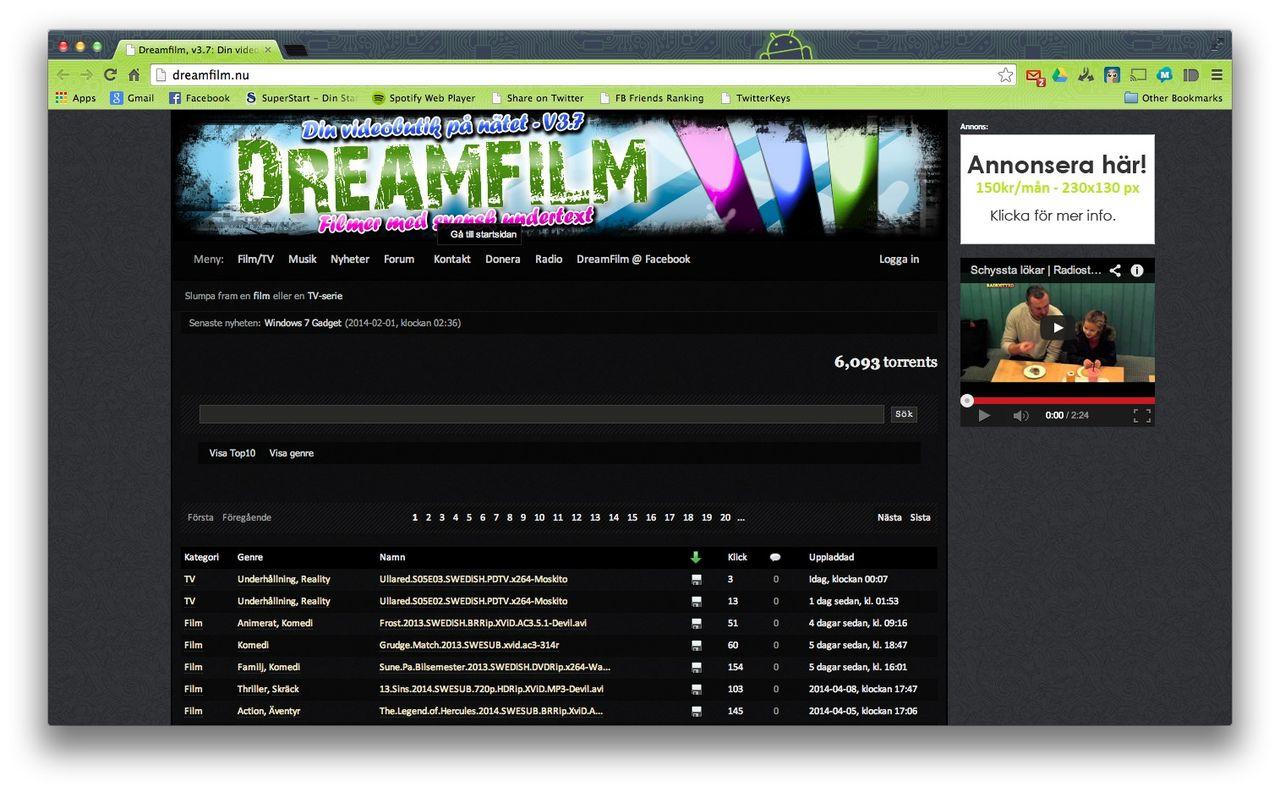 Tillslag mot Dreamfilm.nu