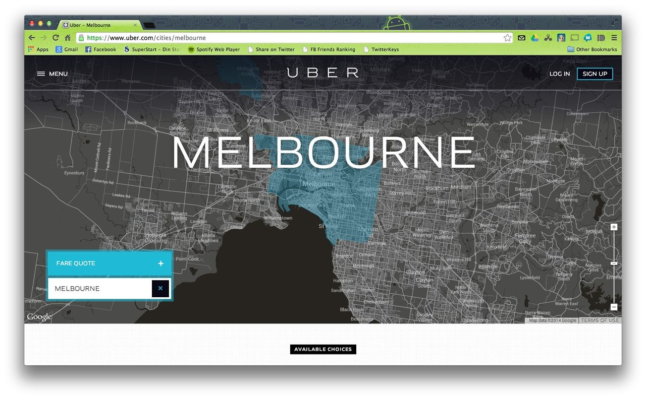 Uber drabbas av böter i Australien