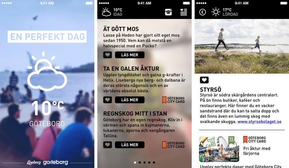 App för en perfekt dag i Göteborg