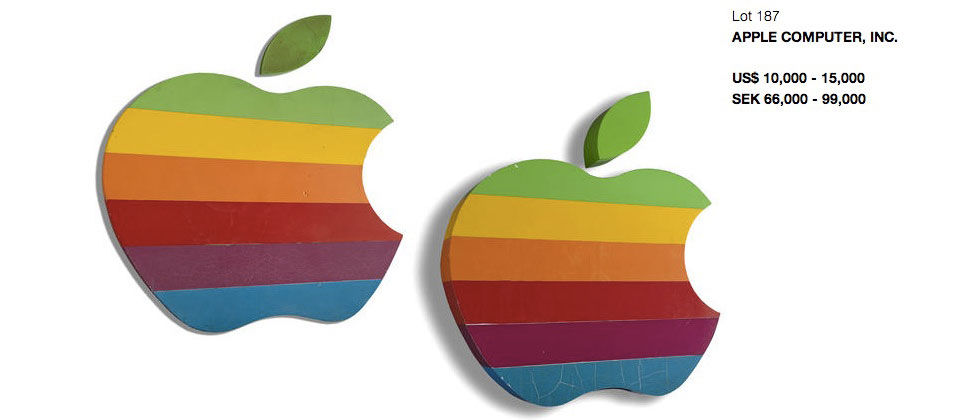 Klassiska Apple-skyltar säljs på auktion