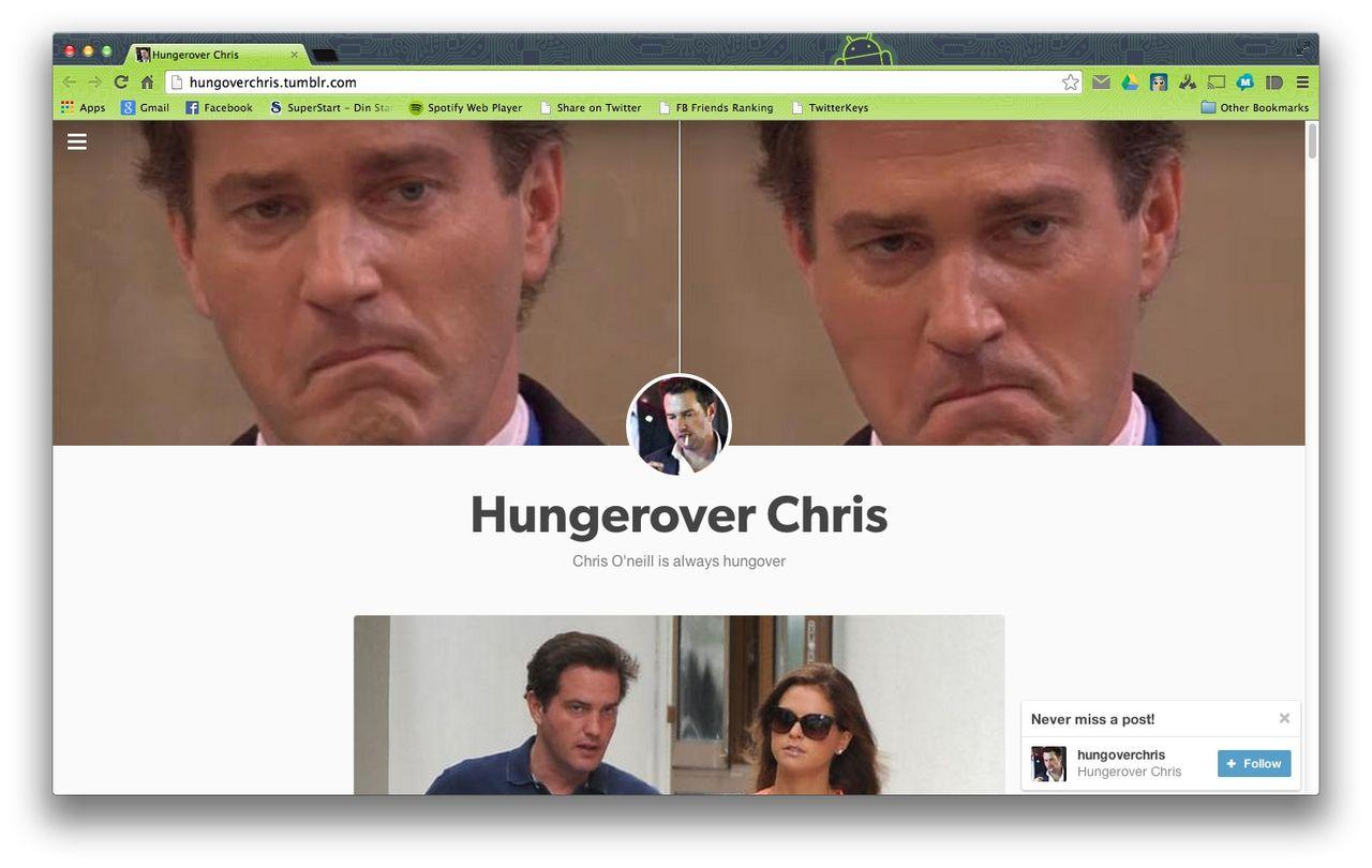Hungover Chris
