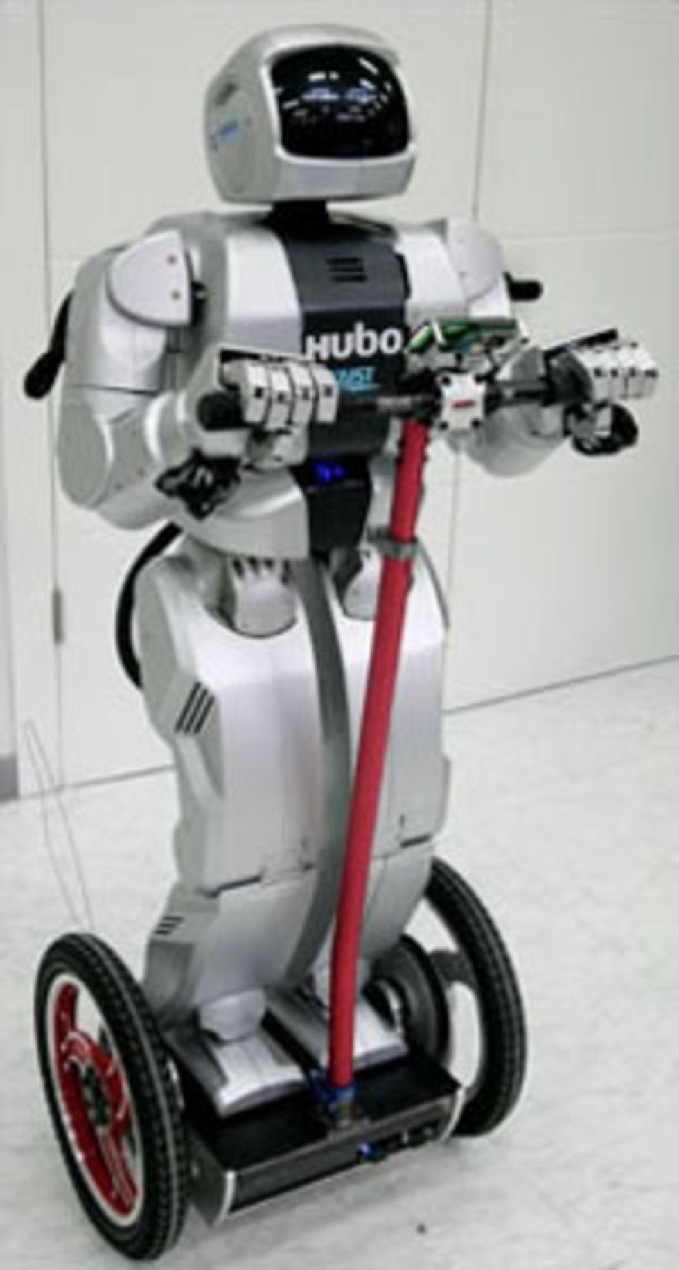 Roboten Hubo får ett fordon
