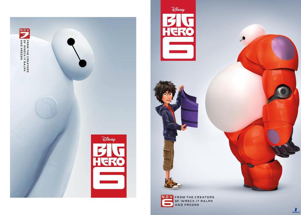 Två posters för Big Hero 6