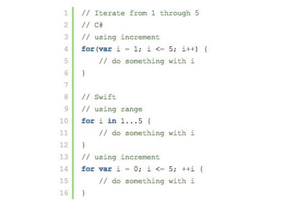 En titt på C# vs. Swift