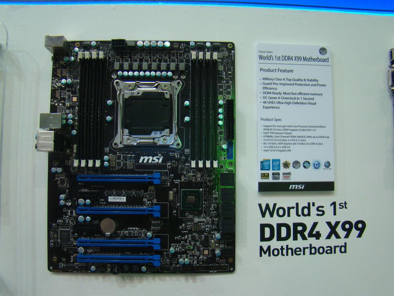 MSI och ASRock visar X99-baserade moderkort