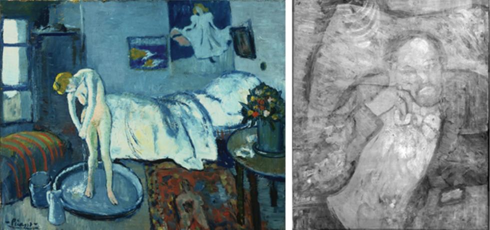 Dold målning hittad under picassomålning