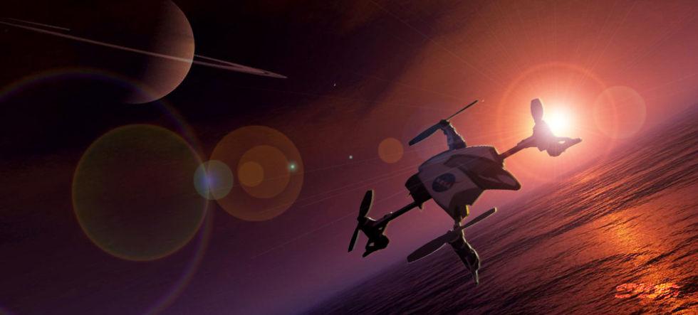 NASA vill skicka en multicopter till Titan