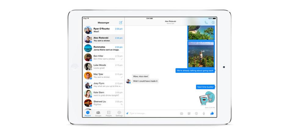 Nu finns Facebook Messenger till iPad