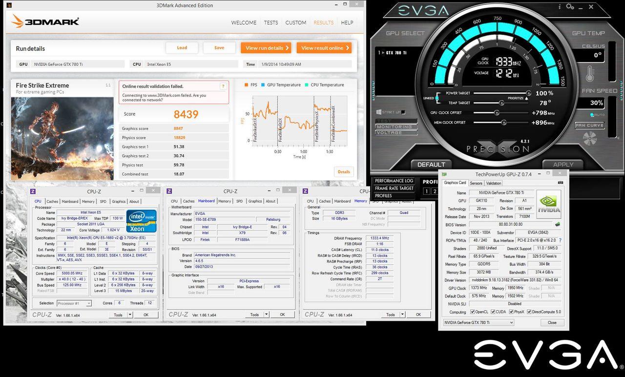 EVGA GTX 780 Ti Classified Kingpin Edition sätter nytt rekord